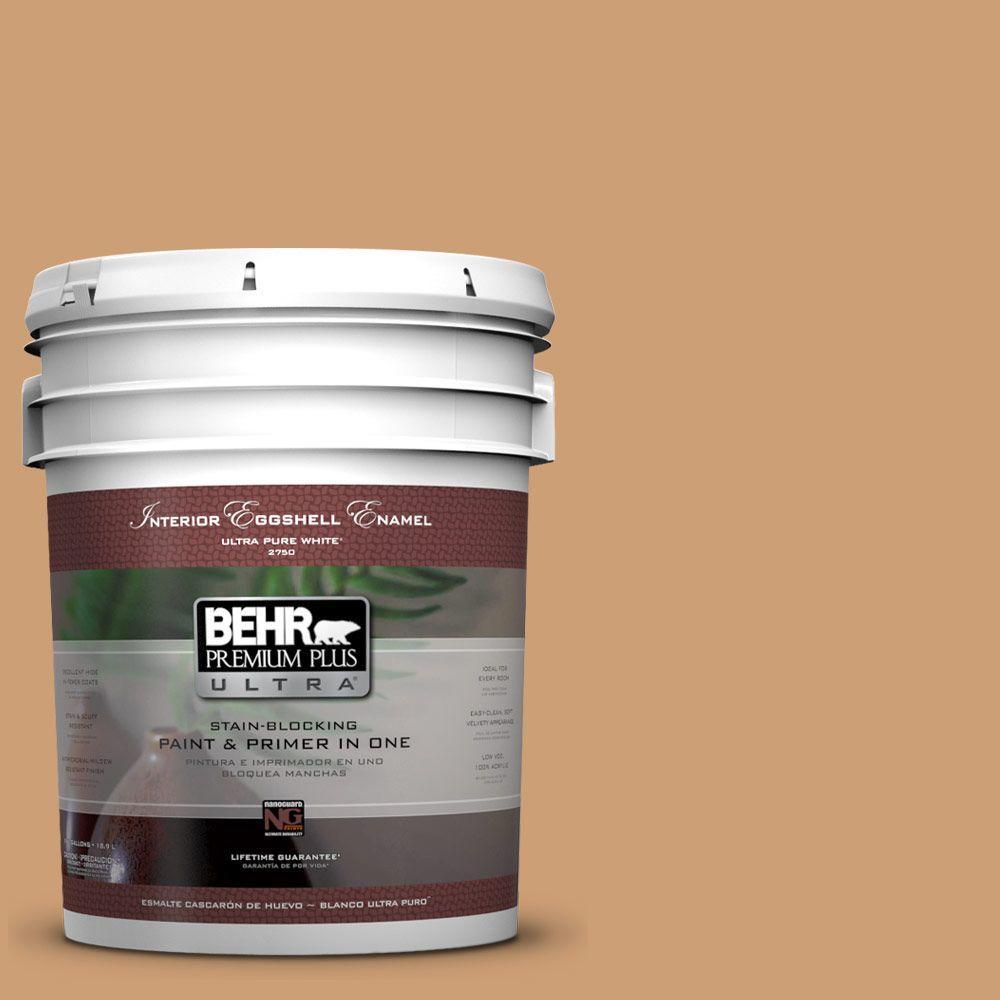 BEHR Premium Plus Ultra 5-gal. #S250-4 Fresh Croissant Eggshell Enamel Interior Paint