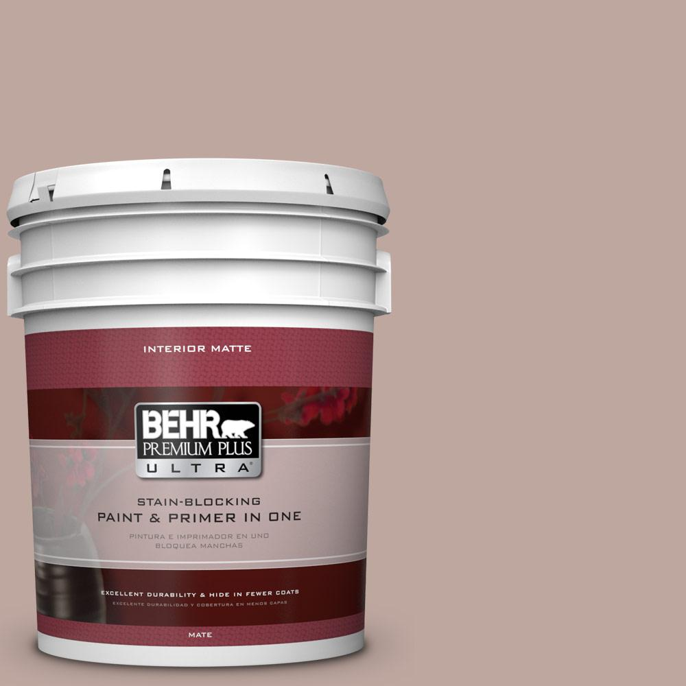 BEHR Premium Plus Ultra 5 gal. #PWL-88 Heavenly Cocoa Flat/Matte Interior Paint