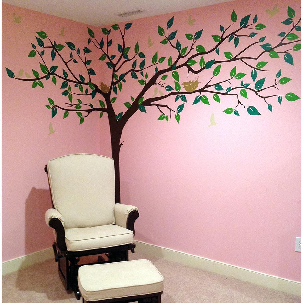 Bedroom Green Bedroom Ceiling Bedroom Kitchenette Bedroom Colors That Go With Brown Furniture: Pop Decors 133 In. X 90 In. Colorful Super Big Tree