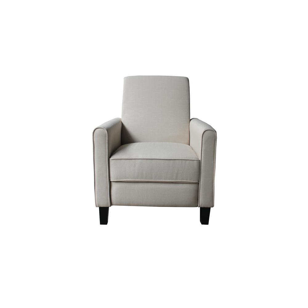 Attirant US Pride Furniture Davis Beige Fabric Recliner
