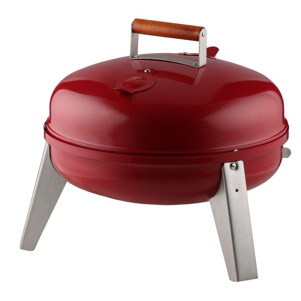 Lock N' Go Portable Charcoal Grill in Red