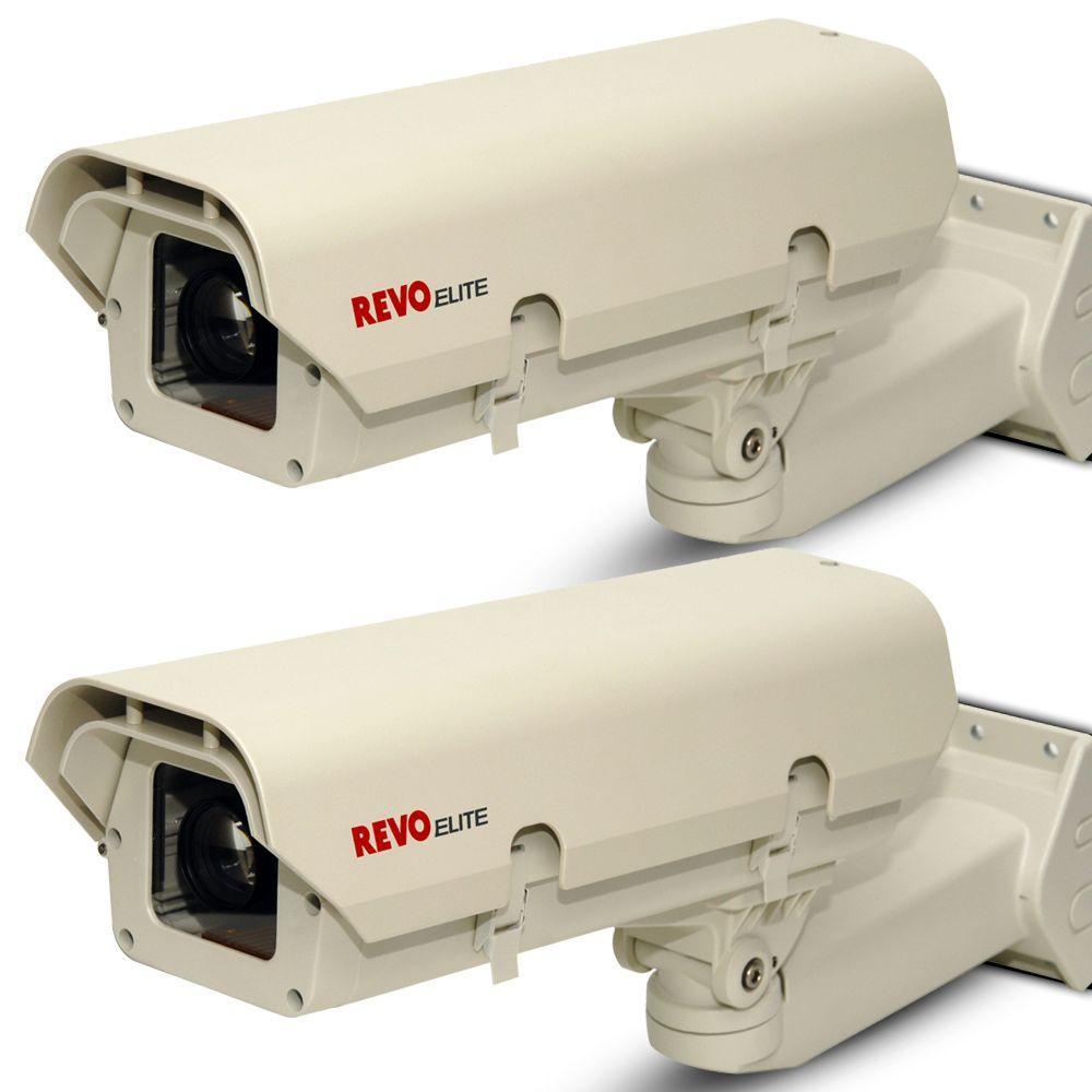 Revo Elite 600TVL Box Indoor/Outdoor Surveillance Cameras and Enclosures (2-Pack)