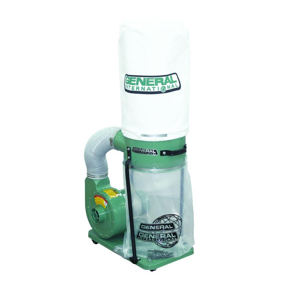 General International 1 Hp Dust Collector With 2 Micron Filter Bags
