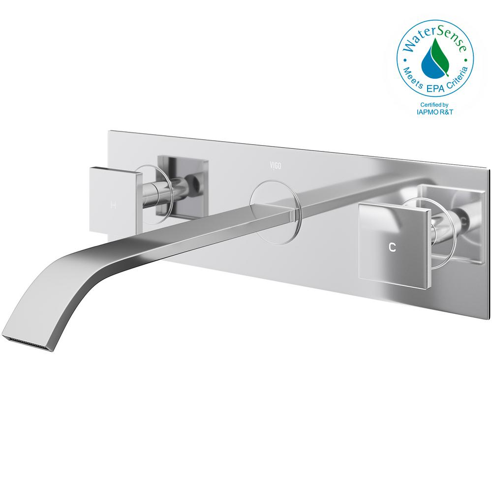 vigo bathroom faucets. VIGO Titus Dual Lever 2-Handle Wall-Mount Bathroom Faucet In Chrome Vigo Faucets A