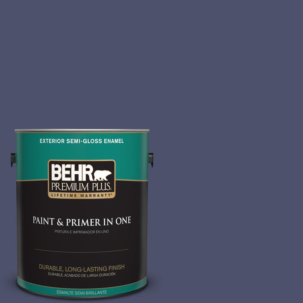1 gal. #PPU15-18 Vintage Velvet Semi-Gloss Enamel Exterior Paint