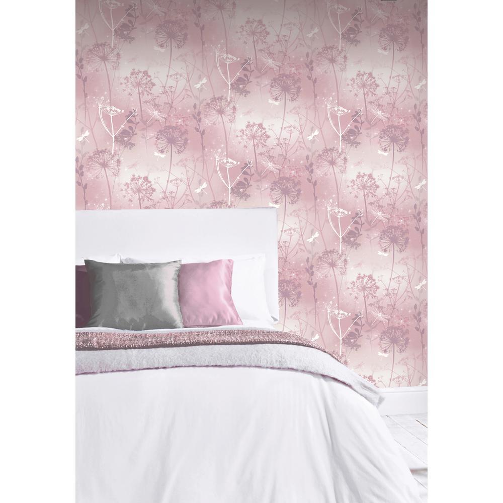Damselfly Blush Wallpaper