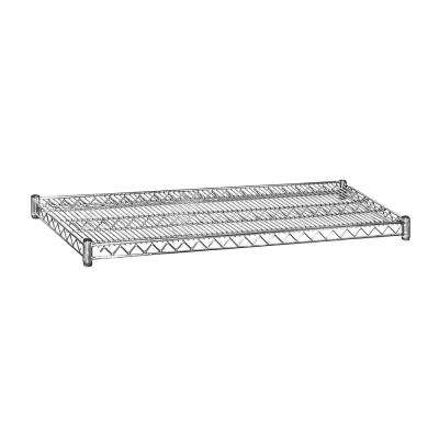 48 in. W x 2 in. H x 18 in. D Shelf Wire Chrome Finish Commercial Shelving Unit