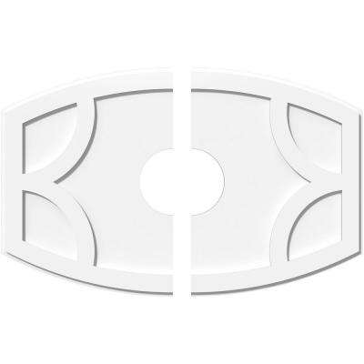 36 in. W x 24 in. H x 7 in. ID x 1 in. P Kailey Architectural Grade PVC Contemporary Ceiling Medallion (2-Piece)