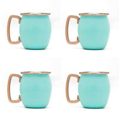 2 oz. Turquoise Stainless Steel Moscow Mule Shots (4-Pack)