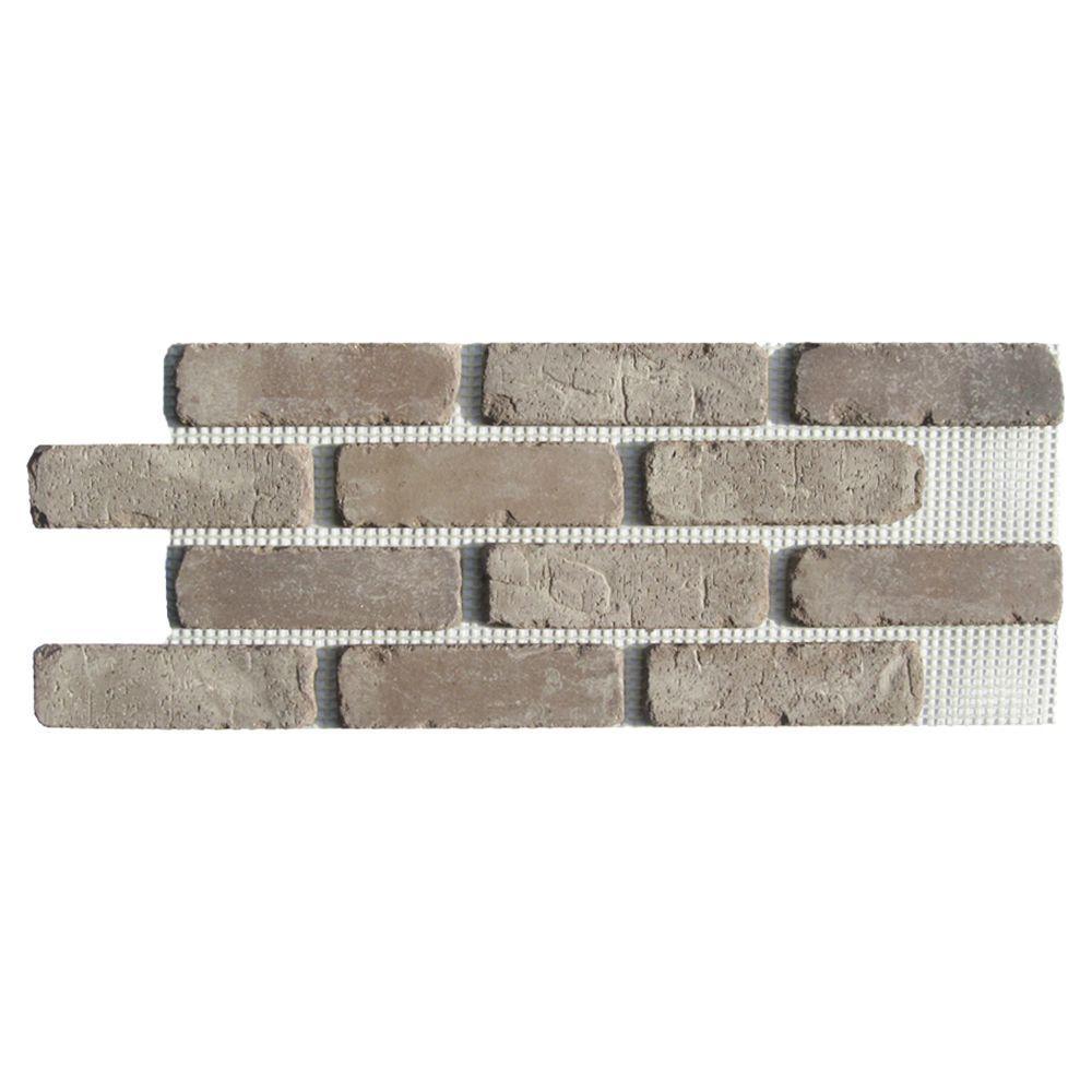 Brickwebb Rushmore Thin Brick Sheets - Flats (Box of 5 Sheets) - 28 in. x 10.5 in. (8.7 sq. ft.)