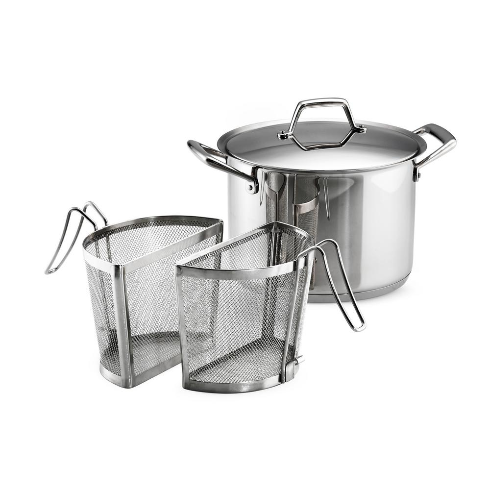 Tramontina Gourmet Prima 8 Qt Stainless Steel Stock Pot With Pasta Inserts And Lid