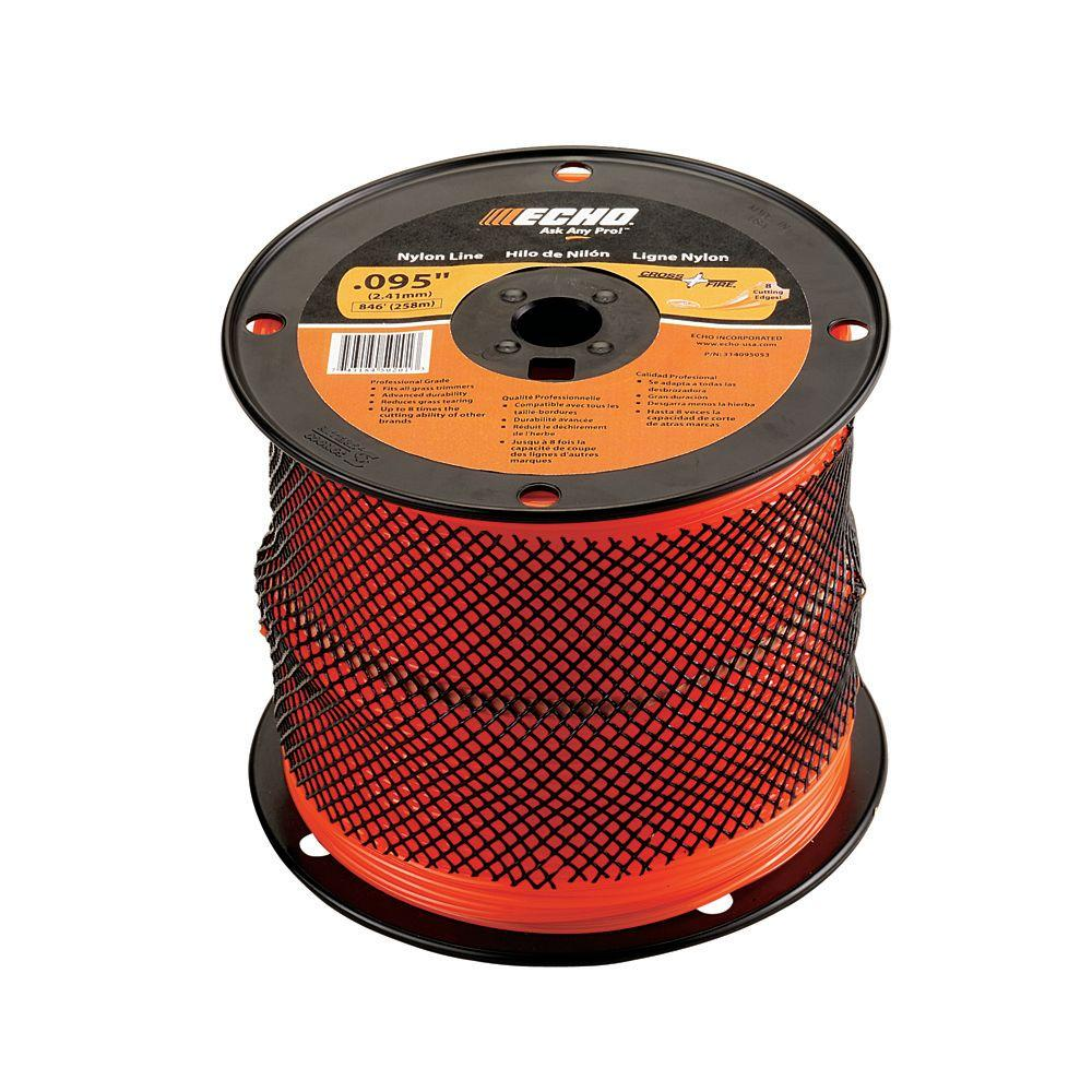 ".095"" Cross-Fire Trimmer Line (1,410 ft.) Large Spool"