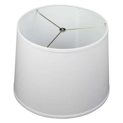 14 in. Top Diameter x 16 in. Bottom Diameter x 12 in. Slant Linen White Empire Lamp Shade