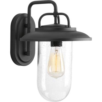 Beaufort Collection 1-Light  Black 14.4 in. Outdoor Wall Lantern Sconce