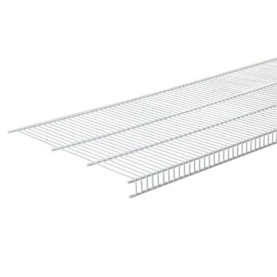 SuperSlide 12 in. D x 72 in. W x 1.4 in. H White Ventilated Wire Wall Mounted Shelf