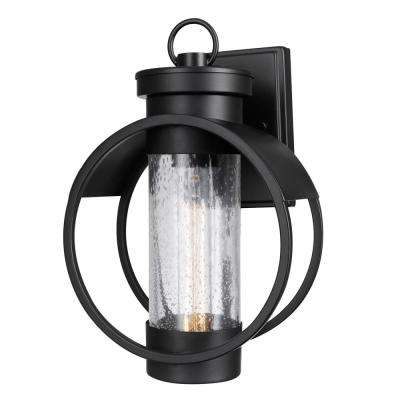 Balvin 1-Light Matte Black Outdoor Wall Sconce