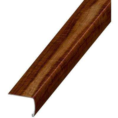 Seashore Wood 7 mm Thick x 2 in. Wide x 94 in. Length Coordinating Vinyl Stair Nose Molding