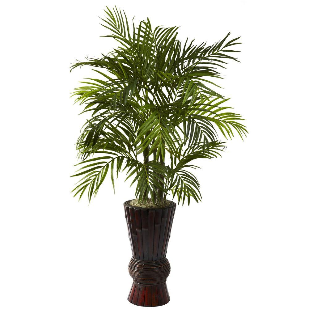 4 ft. Areca with Bamboo Planter