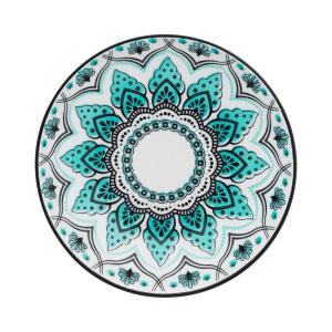 8.46 in. Coup Blue and Black Salad Plates (Set of 6)