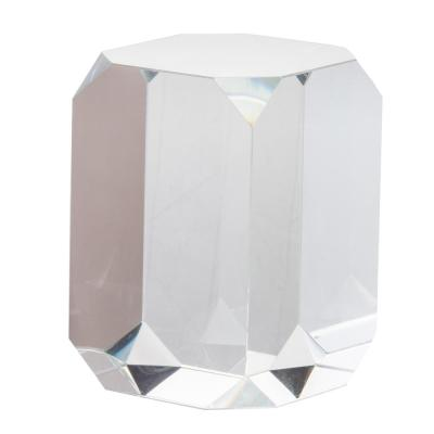 Modern Chic Glass Cube Clear