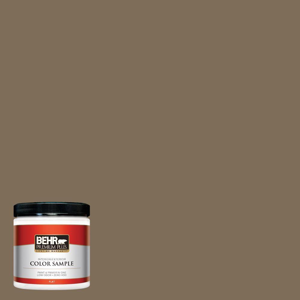 BEHR Premium Plus 8 oz. #710D-6 Butternut Wood Interior/Exterior Paint Sample