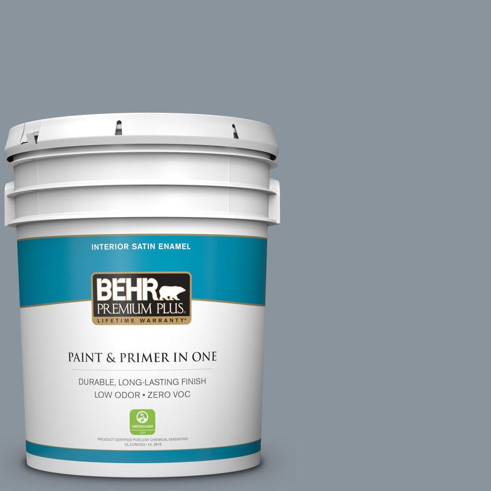 BEHR Premium Plus 5-gal. #BXC-88 Cool December Satin Enamel Interior Paint