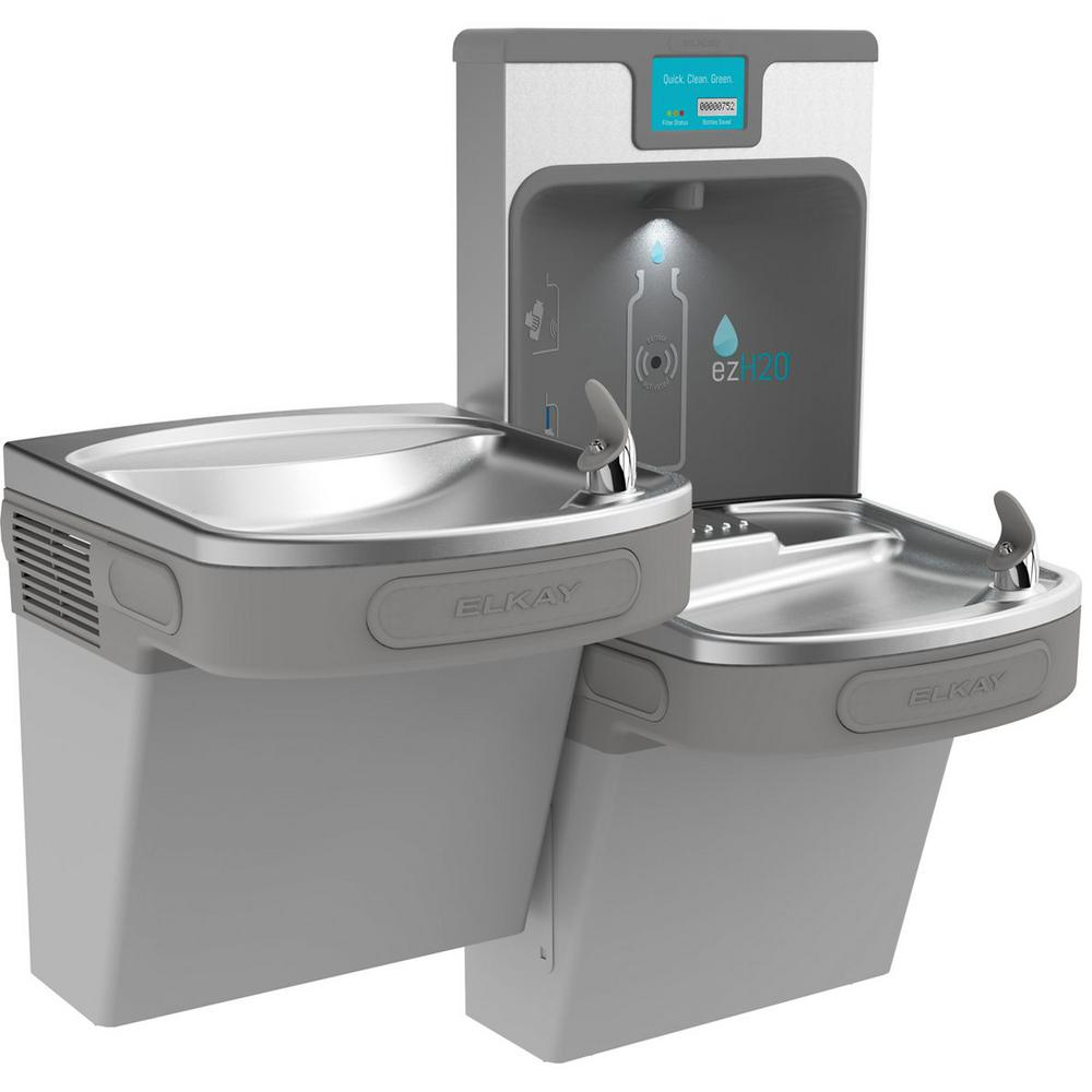 Filtered 8 GPH EZH2O ADA Light Gray Bi-Level Drinking Fountain with