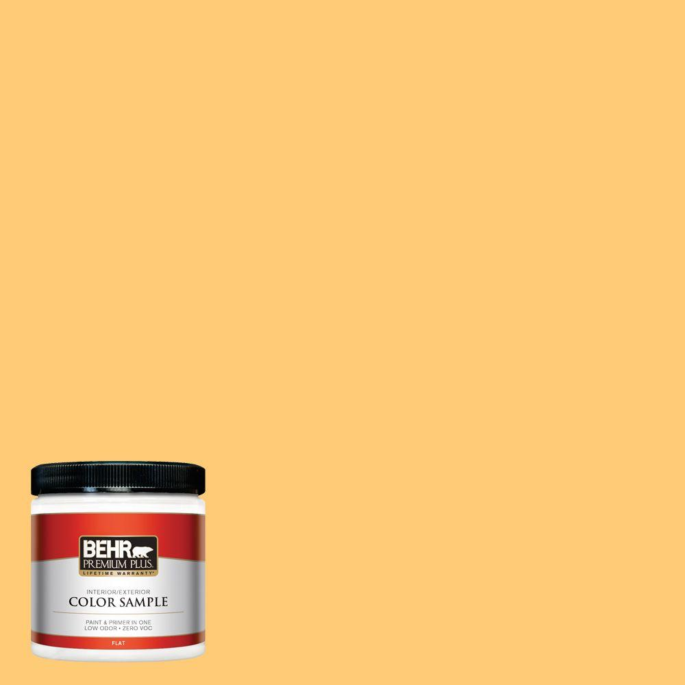 8 oz. #310B-5 Spiced Butternut Flat Zero VOC Interior/Exterior Paint and