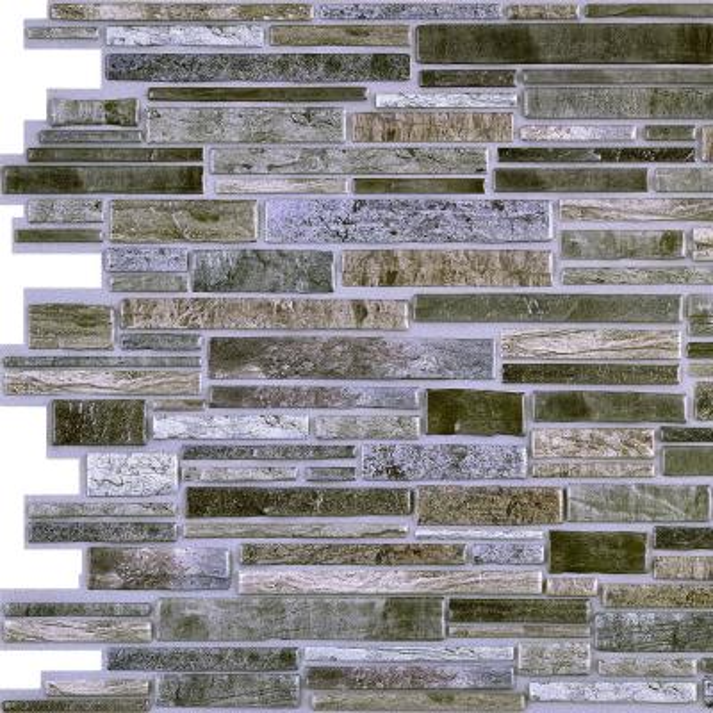 3D Retro 16/1000 in. x 38 in. x 19 in. Grey PVC Wall Panel