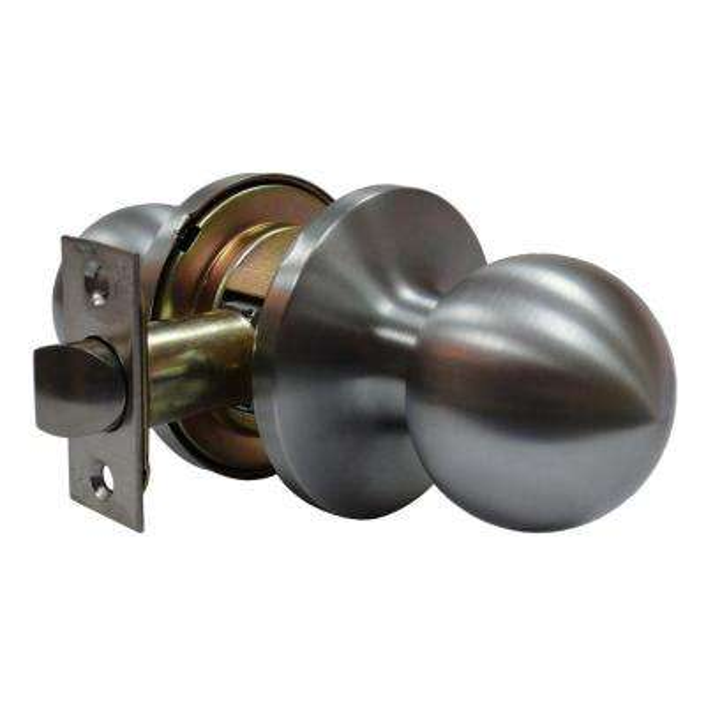 Tubular Ball Satin Chrome Passage Hall/Closet Door Knob