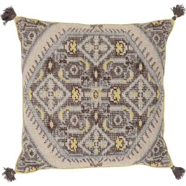 Phesari Green Graphic Polyester 3In. x 3In. Throw Pillow