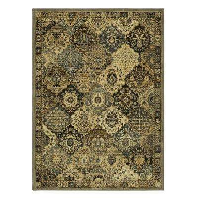 Patchwork Medallion Grey 8 ft. x 10 ft. Area Rug