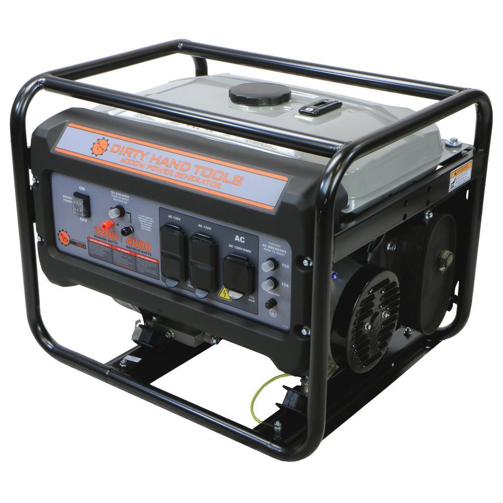Dirty Hand Tools DHT 3200-Watt Gasoline Powered Portable Generator