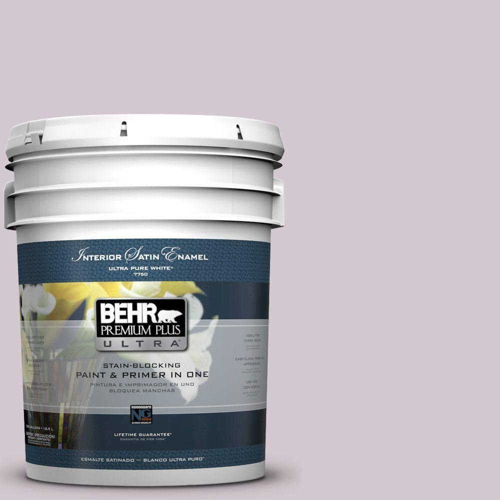 BEHR Premium Plus Ultra 5-gal. #N110-1 Dusty Lilac Satin Enamel Interior Paint