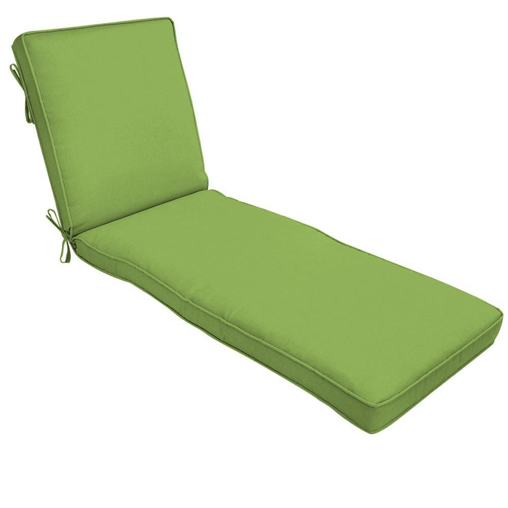22 x 74 Sunbrella Canvas Gingko Outdoor Chaise Lounge Cushion