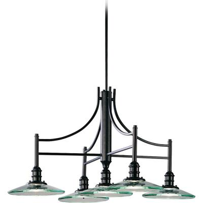 Edo 5-Light Interior/Indoor Black Kitchen Island Pendant Chandelier