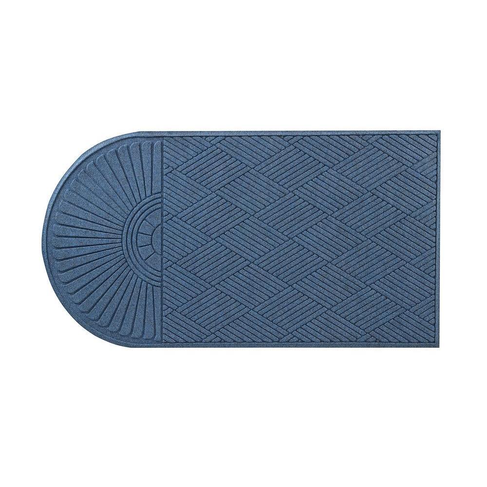 HomeTrax Designs Guzzler Sunburst Slate Blue 34 inch x 72 inch Rubber-Backed Door Mat by HomeTrax Designs