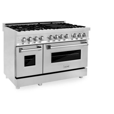 ZLINE 48 in. Professional Dual Fuel Range in Stainless Steel (RA48)