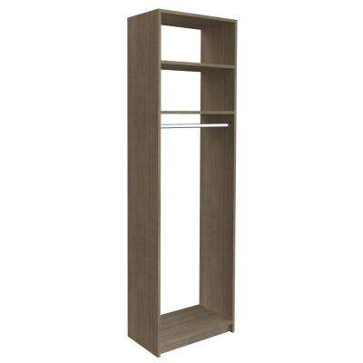 14 in. D x 25.375 in. W x 84 in. H Coastal Haven Medium Hanging Tower Wood Closet System Kit