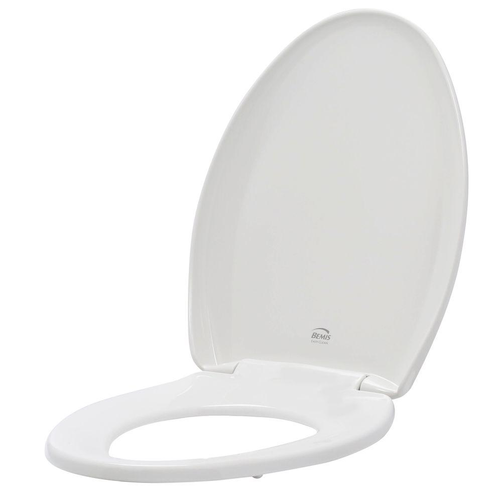BEMIS Slow Close STA-TITE Elongated Closed Front Toilet Seat in White