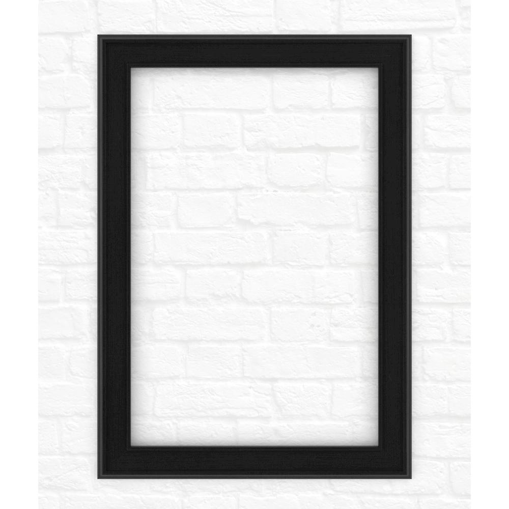 29 in. x 41 in. (M3) Rectangular Mirror Frame in Matte Black