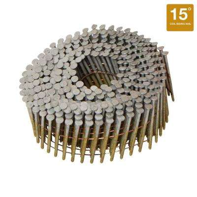 1-1/2 in. x 0.080 Ring Shank 15-Degree Coil Siding Nails (4200-Pack)