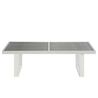 Sauna 4 ft. Stainless Steel Bench in Silver