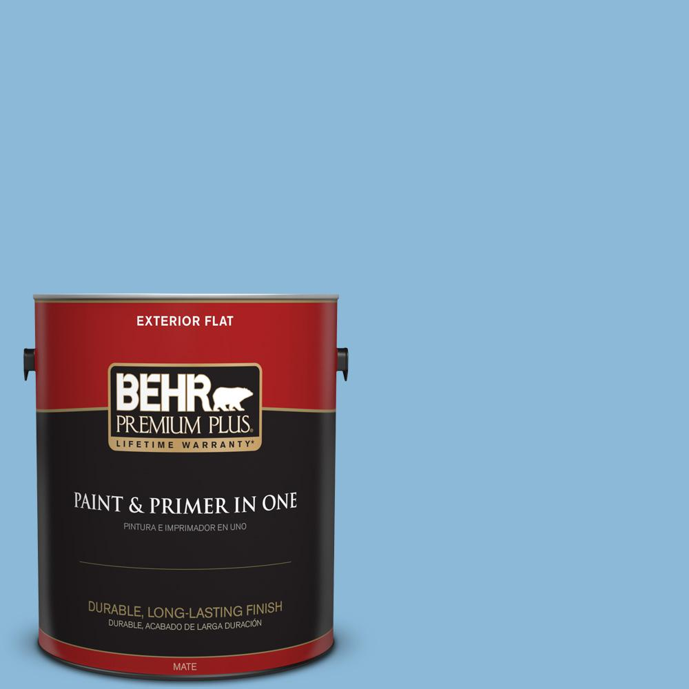 1 gal. #MQ5-55 Simply Posh Flat Exterior Paint and Primer in