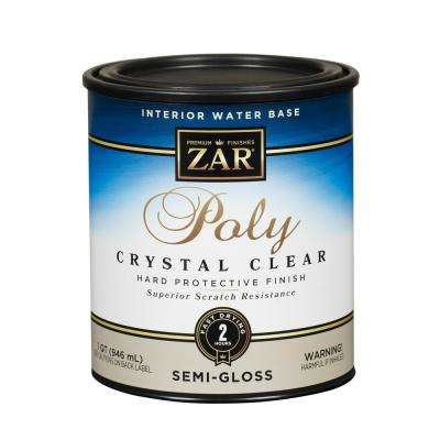 345 Qt Semi-Gloss Crystal Clear Water Based Polyurethane (2-Pack)