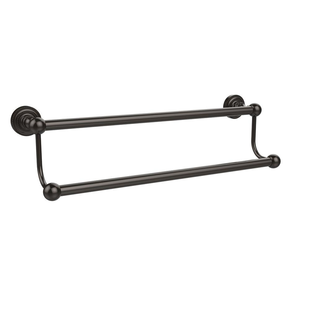 Allied Brass Dottingham Collection 36 in. Double Towel Bar in Oil ...