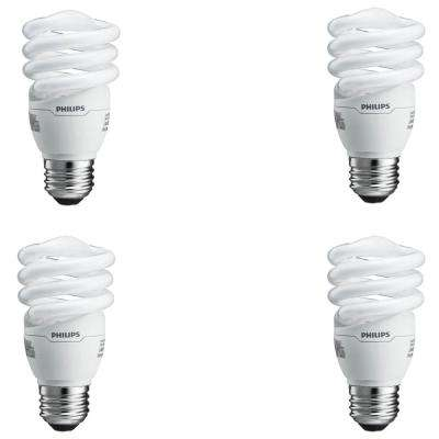 60-Watt Equivalent Spiral A-Line CFL Light Bulb Soft White (2700K) (4-Pack)