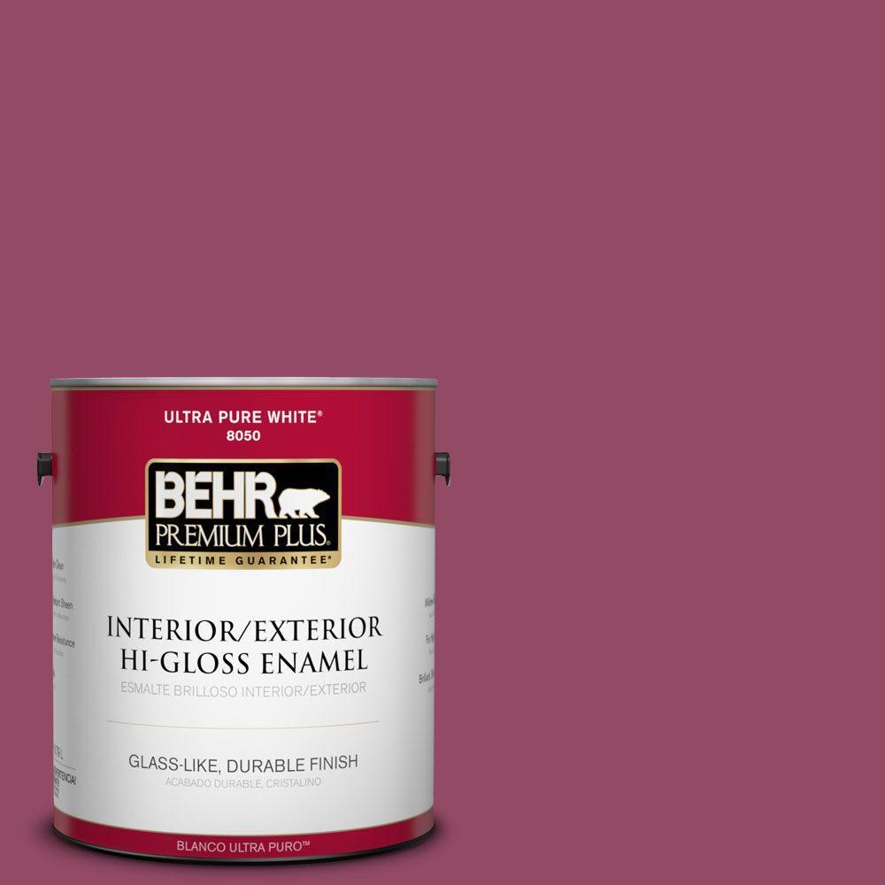 BEHR Premium Plus 1-gal. #P120-7 Glitterati Hi-Gloss Enamel Interior/Exterior Paint
