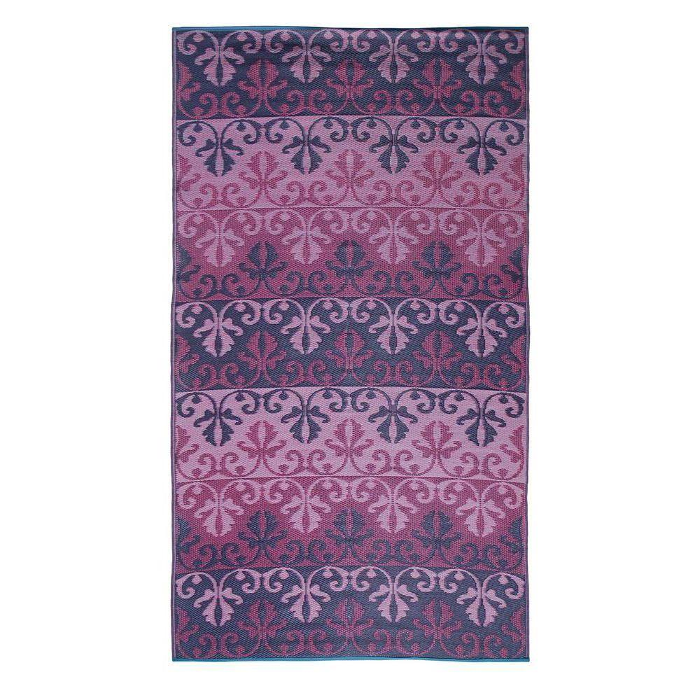 Achla Designs Ruby Purple 5 ft. x 9 ft. Indoor/Outdoor Area Rug, Purple Pink Lavender Achla Designs Ruby Purple 5 ft. x 9 ft. Indoor/Outdoor Area Rug, Purple Pink Lavender