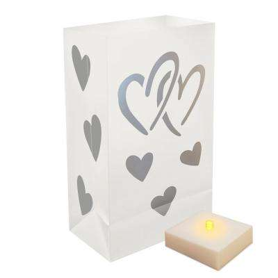 Luminaria Kit in Hearts (6-Count)